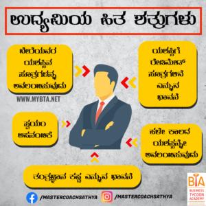 ಉದ್ಯಮಿಯ ಹಿತ ಶತ್ರುಗಳು... 4 EASY STEPS TO BECOME A SUCCESSFUL BUSINESSMAN