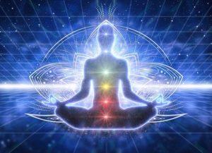 Human Chanting and invoking Energy Chakras