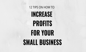 12 TIPS ON HOW TO INCREASE PROFITS FOR YOUR SMALL BUSINESS