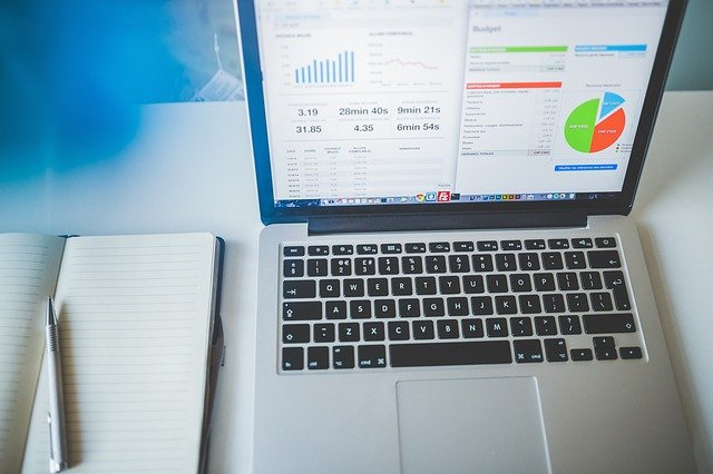 Laptop with Business Analytics